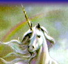 The Unicorn representing author's Spiritual Being, Higher Self.